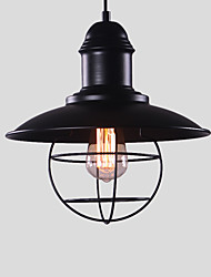 cheap -1-Light Northern Europe Vintage Industry Black Metal Shade Pendant Lights Dining Room Living Room Kitchen Light