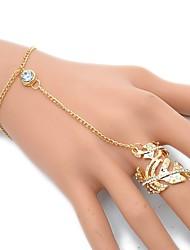 cheap -Women's Ring Bracelet / Slave bracelet Leaf Dainty European Rock Delicate Alloy Bracelet Jewelry Gold / Silver For Party Daily