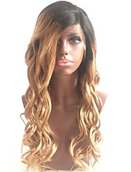 cheap -Human Hair Glueless Lace Front Lace Front Wig Bob Layered Haircut With Ponytail style Brazilian Hair Loose Wave Natural Wave Wig 130% Density Natural Hairline 100% Virgin Unprocessed Women's Medium