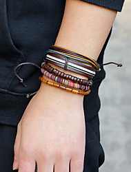 cheap -Men's Bracelet Rope Statement Rock Hip-Hop Oversized Cord Bracelet Jewelry Brown For Daily Casual
