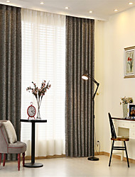 cheap -Two Panels Formal Curtains Drapes Curtain Bedroom   Curtains / Jacquard