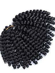 cheap -Pre-loop Crochet Braids 1pack Hair Braid Bouncy Curl 8 inch Jamaican Bounce Hair Synthetic Hair Burgundy Black/Strawberry Blonde