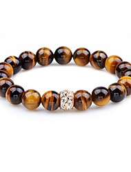 cheap -Women's Onyx Hawks Eye Stone Bead Bracelet Fashion Agate Bracelet Jewelry Brown For Gift Going out