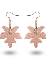 cheap -Women's Drop Earrings Hoop Earrings Leaf Tree of Life Christmas Tree Classic European Fashion Oversized Rose Gold Gold Plated Rose Gold Plated Earrings Jewelry Gold / Black / Rose Gold For Daily