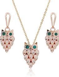 cheap -Women's Opal Drop Earrings Necklace Owl Classic Fashion Opal Imitation Diamond Earrings Jewelry Gold For Daily