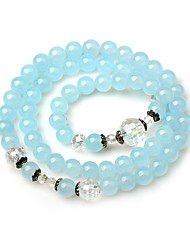 cheap -Women's Onyx Bead Bracelet Wrap Bracelet Simple Fashion Crystal Bracelet Jewelry Light Blue For Street Going out
