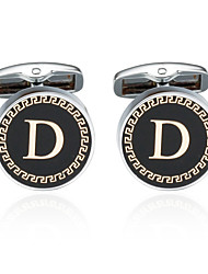 cheap -Silver / Golden Cufflinks Copper Alphabet Shape Men's Costume Jewelry For