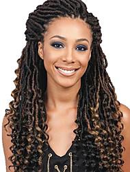 cheap -Braiding Hair Curly Sister Locs Micro Locs Pre-loop Crochet Braids Synthetic Hair 1pc / pack 23 Roots Hair Braids Ombre Medium Length New Arrival Ombre Braiding Hair African Braids