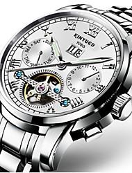 Недорогие -Муж. Механические часы Кварцевые Авиационные часы С автоподзаводом Черный / Серебристый металл 30 m Защита от влаги Календарь Секундомер Роскошь Классика На каждый день Мода - / Нержавеющая сталь