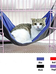 cheap -Cat Bed Oxford cloth Plush Fabric Pet Mats & Pads Solid Colored Warm Casual / Daily Black Purple Fuchsia