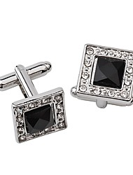 cheap -Cufflinks Office / career Rhinestone Brooch Jewelry White Black For Daily Formal