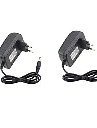 cheap -2pcs 12 V US EU ABS+PC Power Adapter for LED Strip light