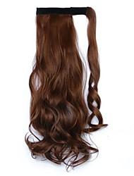 Недорогие -На клипсе Конские хвостики Оберните вокруг Натуральные волосы Волосы Наращивание волос Волнистый