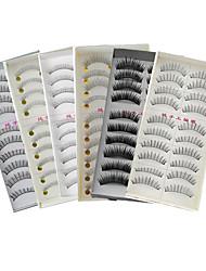 cheap -Eyelash Extensions Makeup Tools False Eyelashes 60 pcs Casual / Daily Fiber Daily Full Strip Lashes Natural Long - Makeup Daily Makeup Cosmetic Grooming Supplies