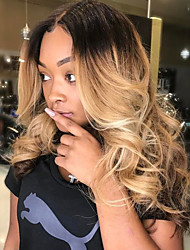 cheap -Human Hair Glueless Lace Front Lace Front Wig Bob Layered Haircut With Ponytail style Brazilian Hair Loose Wave Natural Wave Wig 130% Density with Baby Hair Natural Hairline 100% Virgin Unprocessed