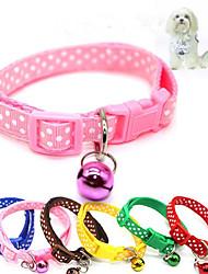 cheap -Cat Dog Collar Breathable Foldable Polka Dot Nylon Red Pink