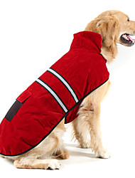 cheap -Dog Coat Reflective Band Solid Colored Keep Warm Outdoor Winter Dog Clothes Puppy Clothes Dog Outfits Warm Red Jade Orange Costume for Girl and Boy Dog Suede Cotton S M L XL XXL