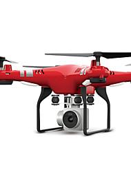 Недорогие -RC Дрон FLYRC X52 Готов к полету 10.2 CM 6 Oси 2.4G С HD-камерой 0.3MP 640P*480P Квадкоптер на пульте управления Светодиодные фонарики / Возврат Oдной Kнопкой / Авто-Взлет Квадкоптер H / зAвисать