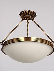 cheap -ZHISHU 3-Light 40 cm Mini Style Pendant Light Metal Glass Brass Traditional / Classic 110-120V / 220-240V