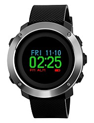 cheap -SKMEI Men's Sport Watch Wrist Watch Digital Watch Japanese Digital Quilted PU Leather Black 50 m Water Resistant / Waterproof Alarm Calendar / date / day Digital Luxury Colorful - Black One Year