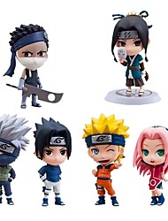 cheap -Anime Action Figures Inspired by Naruto Sasuke Uchiha PVC(PolyVinyl Chloride) CM Model Toys Doll Toy