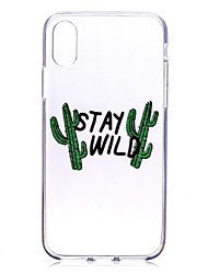 cheap -Case For Apple iPhone X / iPhone 8 Plus / iPhone 8 Transparent / Pattern Back Cover Word / Phrase Soft TPU