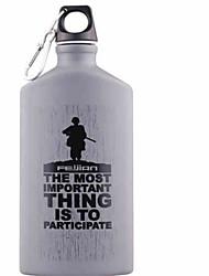 cheap -Travel Mug / Cup / Water Bottle 0.6 L One-piece Suit Lightweight for Aluminum Plastic Outdoor Black Dark Grey