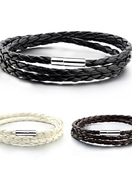 cheap -Men's Women's Wrap Bracelet Leather Bracelet Jewelry White / Black / Coffee For Daily