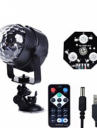 cheap -U'King Disco Lights Party Light LED Stage Light / Spot Light Sound-Activated / Music-Activated 6 W For Home / Outdoor / Party Portable RGB for Dance Party Wedding DJ Disco Show Lighting