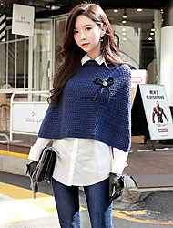 cheap -Women's Going out Casual / Street chic Pullover - Solid Colored Shirt Collar