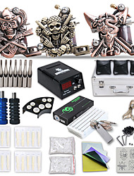 cheap -DRAGONHAWK Professional Tattoo Kit Tattoo Machine - 3 pcs Tattoo Machines, Professional / All in One / Easy to Install Cast Iron LCD power supply 3 cast iron machine liner & shader / Case Included