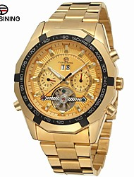 cheap -FORSINING Men's Fashion Watch Dress Watch Wrist Watch Automatic self-winding Stainless Steel Gold 30 m Calendar / date / day Analog Classic Casual - Gold White Black