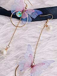 cheap -Women's Drop Earrings Butterfly Elegant Sweet Imitation Pearl Earrings Jewelry Gold For Daily Going out