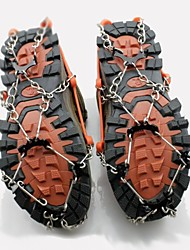 cheap -Traction Cleats Crampons Outdoor Non-Slippery Metal Alloy Rubber Metal Climbing Outdoor Exercise Orange
