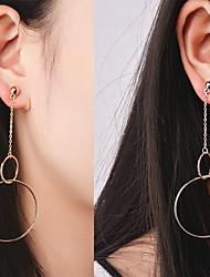 cheap -Women's Pendant Dangle Earrings Personalized Geometric Dangling Euramerican Earrings Jewelry Gold / Silvery For Daily Casual