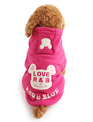 cheap -Dog Hoodie Winter Dog Clothes Black Rose Costume Polar Fleece Cartoon Keep Warm XS S M L