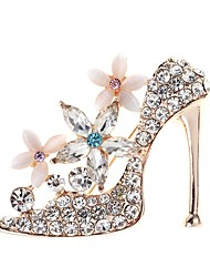 cheap -Women's Brooches High Heel Simple Elegant Crystal Brooch Jewelry Gold For Daily