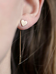 cheap -Women's Pendant Dangle Earrings Jacket Earrings Heart Love Cheap Personalized Simple Dangling European Simple Style Fashion Earrings Jewelry Gold / Silvery For Party Daily Casual
