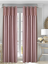 cheap -Blackout Curtains Drapes Two Panels / Pleated / Bedroom