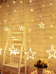 cheap -LED Star Curtain Lights 8 Modes with 12 Stars 138 LEDs Waterproof Linkable Curtain String Lights for Christmas Halloween Holidays Wedding Bedroom Indoor Outdoor Décor