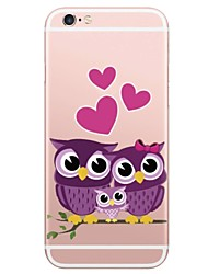 cheap -Case For Apple iPhone X / iPhone 8 Plus / iPhone 8 Pattern Back Cover Animal / Owl Soft TPU