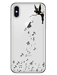 cheap -Case For Apple iPhone X / iPhone 8 Plus / iPhone 8 Pattern Back Cover Playing with Apple Logo Soft TPU