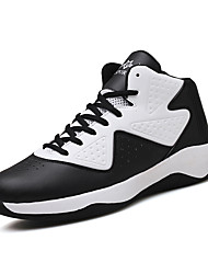cheap -Men's Comfort Shoes PU Spring / Fall Sneakers Basketball Shoes Slip Resistant Red / White / Gray / Lace-up