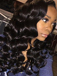 cheap -Human Hair Glueless Lace Front Lace Front Wig style Brazilian Hair Body Wave Wig 150% Density with Baby Hair Natural Hairline Women's Long Human Hair Lace Wig ELVA HAIR
