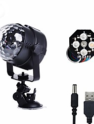 cheap -U'King Disco Lights Party Light LED Stage Light / Spot Light Sound-Activated / Music-Activated 8 W For Home / Outdoor / Party Portable RGB White for Dance Party Wedding DJ Disco Show Lighting