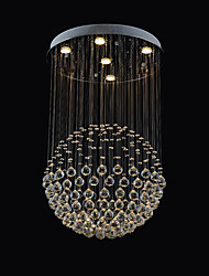 cheap -60 cm 5-Light Flush Mount Ambient Light Stainless Steel Metal Crystal 110-120V / 220-240V Warm White Bulb Included / GU10