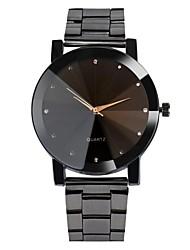 Недорогие -Муж. Наручные часы Кварцевый Нержавеющая сталь Черный / Серебристый металл Защита от влаги Cool Аналоговый Классика На каждый день Богемные Мода - Черный Серебряный Один год Срок службы батареи