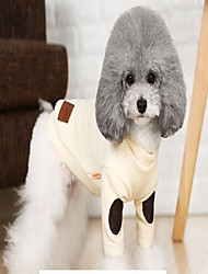 cheap -Cat Dog Coat Sweater Christmas Winter Dog Clothes Beige Gray Costume Cotton Casual / Daily Keep Warm Leisure S M L