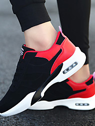cheap -Men's Comfort Shoes Rubber Spring / Fall Athletic Shoes Black / White / Black / Red / Black / Lace-up / Outdoor