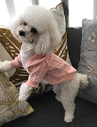 cheap -Cat Dog Coat Sweater Hoodie Winter Dog Clothes White Red Pink Costume Cotton Party New Casual / Daily S M L
